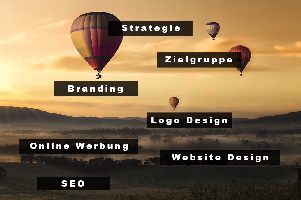 Marketing Veranschaulichung ballons Entwurf 1